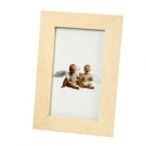 Creotime Cadre photo en bois à décorer avec vitre - 10,5 x 15,6 cm