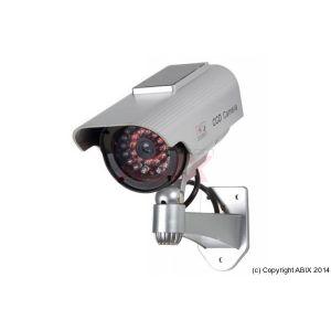Velleman CAMD9 - Caméra cylindrique factice avec LEDs IR et panneau solaire