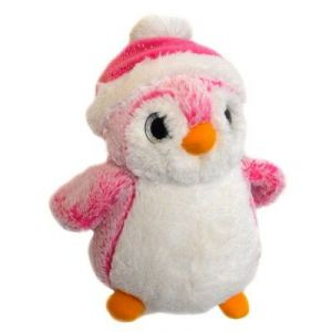Soft Friends Peluche Pingouin bonnet rose 23 cm