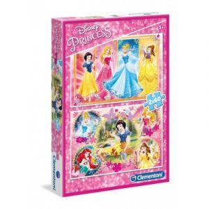 Image de Clementoni Disney Princess - 2 puzzles 60 pièces