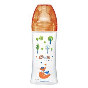 Dodie Biberon Sensation + 330 ml avec tétine plate débit 3