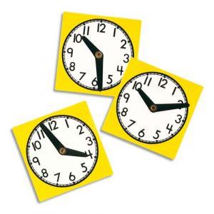 Oz international Grande horloge en polypropylène avec aiguilles mobiles format 30x30cm pour apprendre l'heure