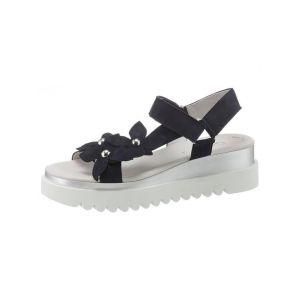 Gabor Bryce Flower Trim Womens Sandals 6 UK/39 EU Bluette Suede
