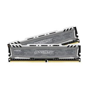 Crucial Sport LT BLS2K16G4D30AESB 32Go Kit (16Go x2) (DDR4, 3000 MT/s, PC4-24000, CL15, Dual Rank x8, DIMM, 288-Pin) Mémoire - Gris