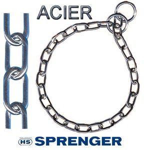 HS Sprenger Maille moyenne acier chromé - collier étrangleur - L45 x O38 x M2,5