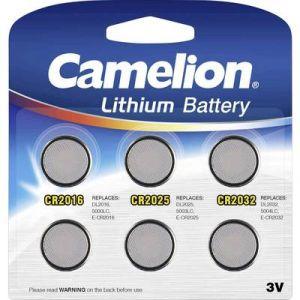 Camelion Pack Mix de 6 piles Lithium CR2016, CR2025, CR2032