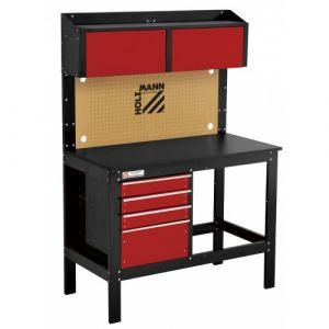 Holzmann Etabli d'atelier avec tiroirs panneau perforé et placards - WT39