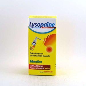 Boehringer Ingelheim Lysopaïne Menthe sans sucre - Maux de gorge - Pulvérisateur 17,86 mg/ml