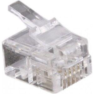 Dexlan Connecteur RJ11 4/6 - sachet de 1000