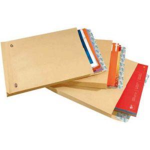 Gpv 4982 - Sac à soufflet Pack'n Post 340x465x30, 130 g/m², coloris brun - boîte de 100