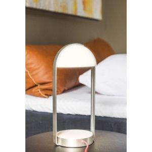 SLV Lampe à poser Brenda LED 3000K chargement sans fil - Argent