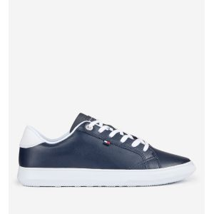 Tommy Hilfiger Essential Leather Cupsole, Sneakers Basses Homme, Bleu (Midnight 403), 44 EU