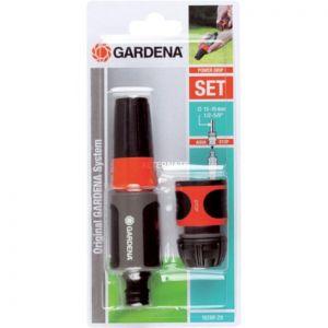 Gardena 18288-20 - Nécessaire d'arrosage 15 mm pour équiper un tuyau Ø 13-15 mm