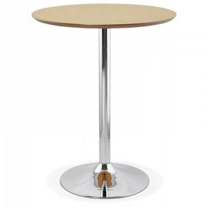 "Table de Bar ""Nazca"" 90cm Naturel Prix"