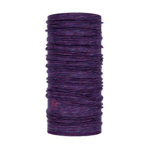 Buff Tours de cou -- Lightweight Merino Wool - Purple Multi Stripes - Taille One Size
