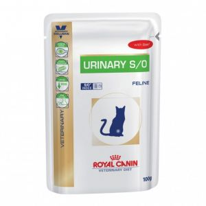 Image de Royal Canin Veterinary Diet Chat Urinary S/O - 12 sachets de 100 g, Saveur : Beef