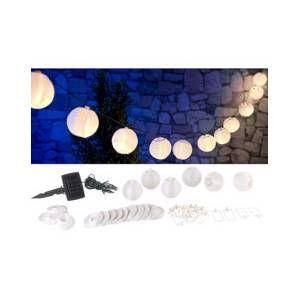 Lunartec Guirlande LED solaire 3,8 m à 20 mini-lampions – blanc chaud