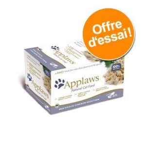 Applaws Cat Pots 8 x 60 g pour chat - sélection au poulet