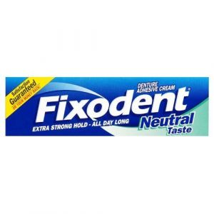Fixodent Neutral Taste - Crème adhésive neutre pour dentier