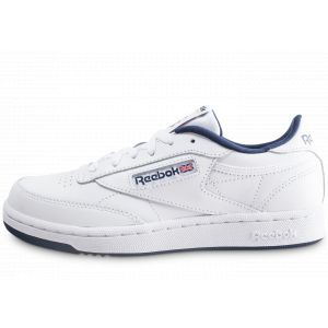 Reebok Enfant Club C Blanche Et Bleue Marine Junior Baskets