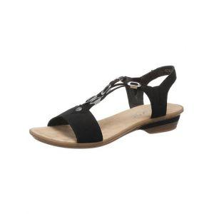 Rieker 63453 Femme Sandale à lanières,Sandales à lanières,Chaussures d'été,Confortables,schwarz/00,41 EU / 7.5 UK