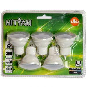 Nityam Ampoule LED SPOT DEPOLIE GU10 4W (X5)