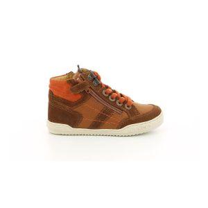 Kickers Jake, Sneakers Haute Garçon, Marron, 35
