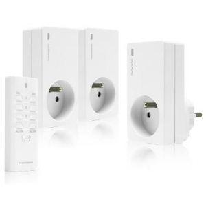 Thomson 500105 - Pack 3 prises télécommandées avec télécommande