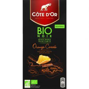 Côte d'Or Chocolat noir bio orange corsée - La tablette de 90 g