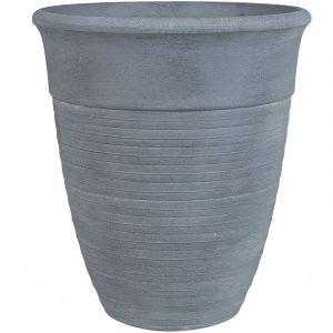 Beliani Pot de fleurs gris ?43 cm KATALIMA