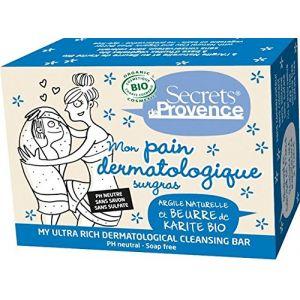 Image de Secrets de provence Mon Pain dermatologique surgras argile naturelle et beurre de karité bio