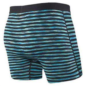Saxx Underwear Vêtements intérieurs Vibe Boxer Modern Fit - Black Space Hiker Stripe - Taille L