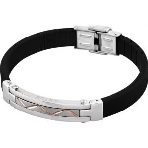 Lotus LS1520-2-4 - Bracelet en silicone acier Zigzag pour homme