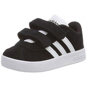 Adidas VL Court 2.0 CMF I, Chaussures de Fitness Mixte Enfant, Noir (Negbas/Ftwbla 000), 23 EU