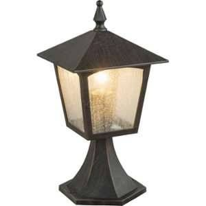 Globo Lighting Borne extérieure aluminium fonte couleur rouille - Verre translucide - IP44