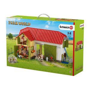 Schleich 42333 - Grande ferme avec animaux et accessoires figurines