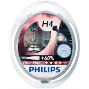 Philips 2 Ampoules H4 VisionPlus 55 W 12 V