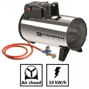Kemper Générateur d'air chaud à gaz 10 KW Radiateur soufflant à gaz tuyau et détendeur