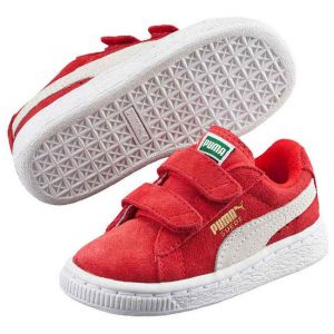 Puma Suede 2 Straps PS, Sneakers Basses Mixte Enfant, Rouge (High Risk Red White), 30 EU
