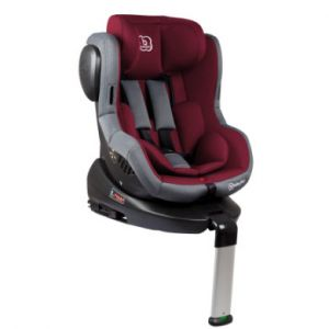 BabyGO 2201 Siège Auto ISO 360 Gr.0+ Jusqu'à 18 kg Isofix Rouge