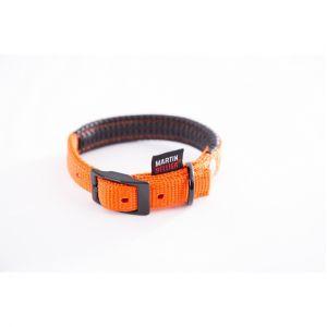 Martin Sellier COLLIER CHIEN NYLON UNI DROIT CONFORT Orange - 45cm
