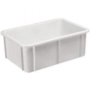 Gilac Bac gerbable en plastique blanc - 35 litres