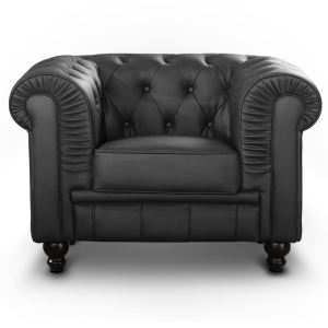 Fauteuil cuir noir et blanc design parer 108 offres