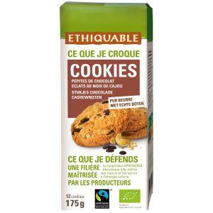 Ethiquable Cookies pépites chocolat noix cajou BIO 175g