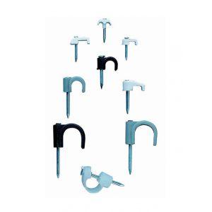Index 100 crampon nylon (polyamide 6,6) clou en acier zingué. Noir. Rond D. 12 mm - GRNE120