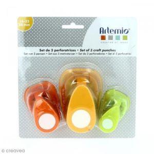 Artémio Lot de perforatrices - Cercle - 3 pcs