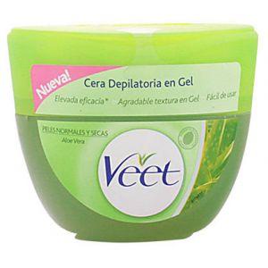 Veet Cire dépilatoire en gel à l'Aloe Vera pour peaux sèches