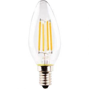 Müller Licht LED EEC classe A++ (A++ - E) E14 en forme de bougie 4 W = 40 W blanc chaud (Ø x L) 35 mm x 98 mm à filament 1 pc(s)