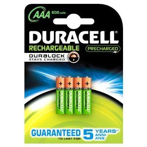 Duracell Pile Rechargeable AAA x4 Stay Charged 800mah (LR03)
