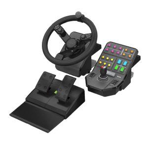 Logitech G Saitek Farm Sim Controller - Volant + Levier de vitesses + Pédalier